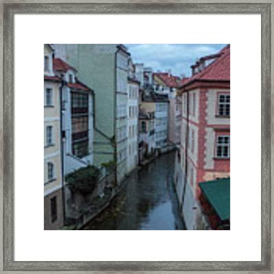 Along The Prague Canals Framed Print by Matthew Wolf