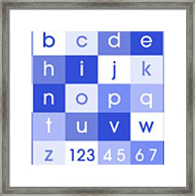 Alphabet Blue Framed Print
