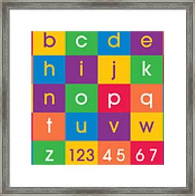 Alphabet Colors Framed Print