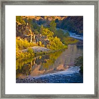 American River Triptych 2 Framed Print by Sherri Meyer