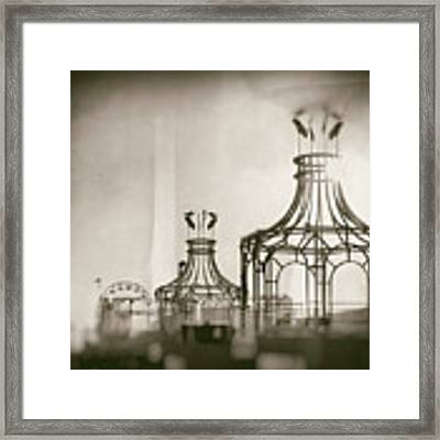 Analog On The Pier Framed Print by Michael Hope