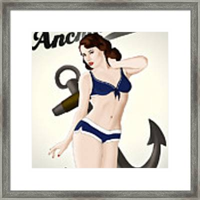 Anchors Aweigh - Classic Pin Up Framed Print by Nicklas Gustafsson