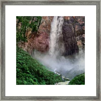 Angel Falls Canaima National Park Venezuela Framed Print by Dave Welling