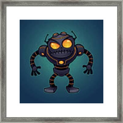 Angry Robot Framed Print