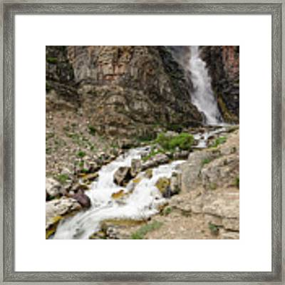 Apikuni Falls Framed Print by Margaret Pitcher