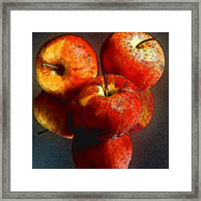 Apples And Mirrors Framed Print by Paul Wear