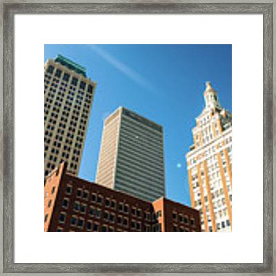 Architecture And Skyscrapers Of The Tulsa Skyline Framed Print by Gregory Ballos
