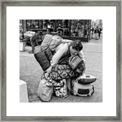 Bag Lady Framed Print by Eric Lake