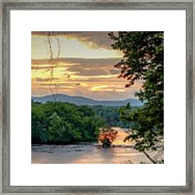 At A Bend In The River Framed Print by Kendall McKernon