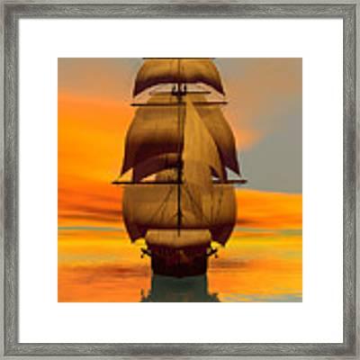 At Full Sail Framed Print by Sandra Bauser Digital Art