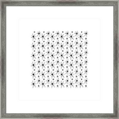 Atomic Starbursts Mini Framed Print by Donna Mibus