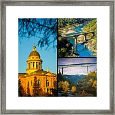 Auburn California Triptych 2 Framed Print by Sherri Meyer