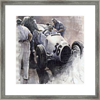 Auto Union B Type 1935 Italian Gp Monza B Rosermeyer Framed Print by Yuriy Shevchuk