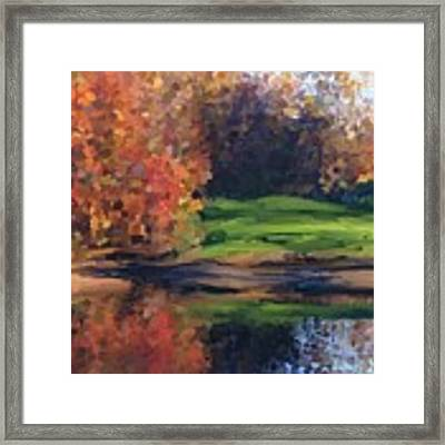 Autumn By Water Framed Print by Ivana Westin