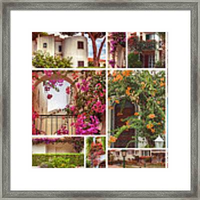 autumn houses,  gardens and balconies in Portugal Framed Print by Ariadna De Raadt