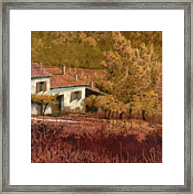 Autunno Rosso Framed Print by Guido Borelli