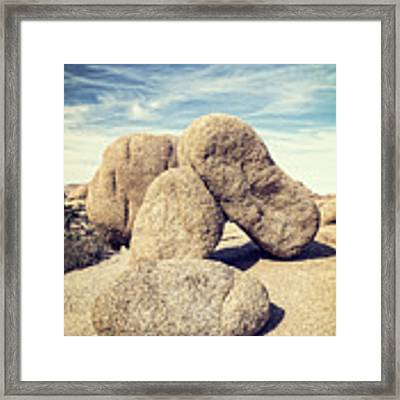 Balanced Boulders In Joshua Tree National Park Framed Print by Bryan Mullennix