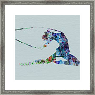 Ballerina On The Stage Framed Print by Naxart Studio