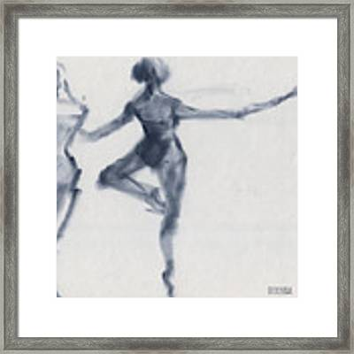 Ballet Sketch Passe En Pointe Framed Print by Beverly Brown
