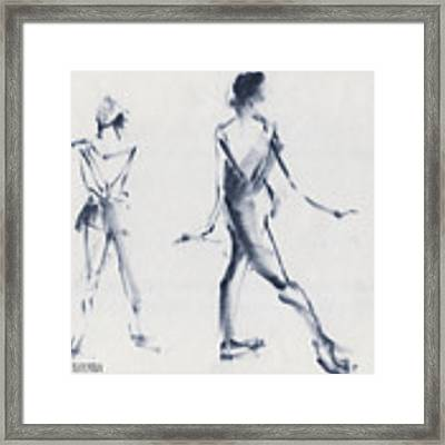 Ballet Sketch Tendu Back Framed Print by Beverly Brown