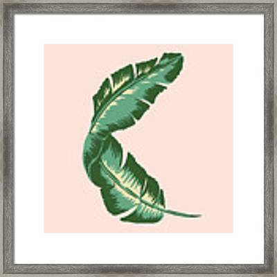 Banana Leaf Square Print Framed Print by Lauren Amelia Hughes