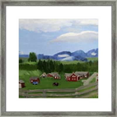 Bar U Ranch Framed Print by Linda Feinberg