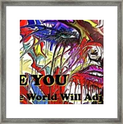 Be You. Framed Print by Darren Cannell