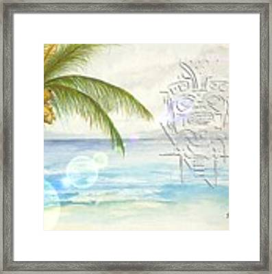 Beach Etching Framed Print by Darren Cannell