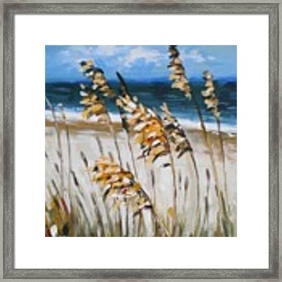 Beach Grass Framed Print by Outre Art Natalie Eisen