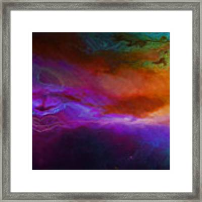Becoming - Abstract Art - Triptych 1 Of 3 Framed Print by Jaison Cianelli