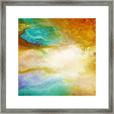 Becoming - Abstract Art - Triptych 2 Of 3 Framed Print by Jaison Cianelli