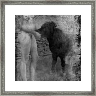 Belfast Nude With Mininature  Framed Print by Jennifer Wright