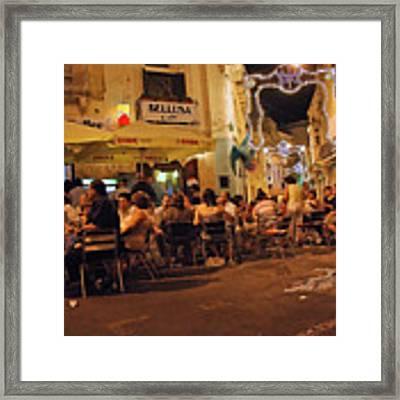 Bellusa Cafe No. 2 Framed Print by Sascha Meyer