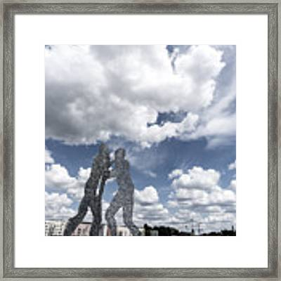Berlin Molecule Men Spree Framed Print by Juergen Held