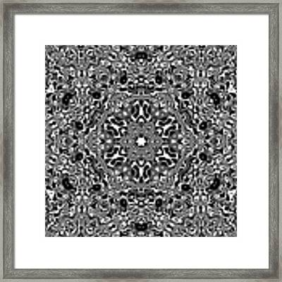 Black And White Mandala 34 Framed Print by Robert Thalmeier