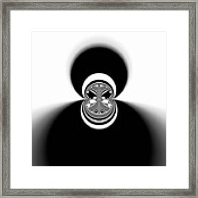 Black And White Mandala 35 Framed Print by Robert Thalmeier