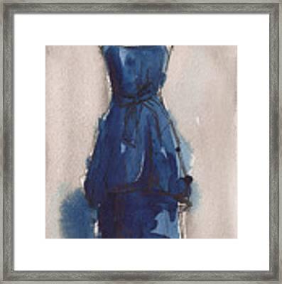 Blue Dress II Framed Print