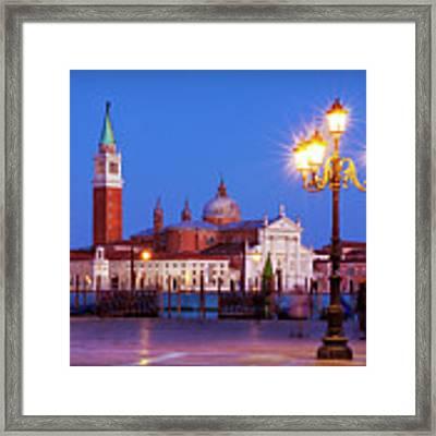Blue Hour In Venice Framed Print by Barry O Carroll