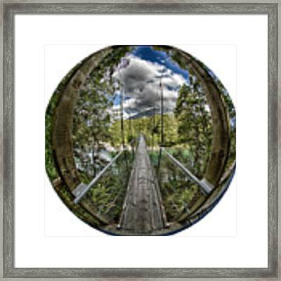 Blue Pools Bridge Framed Print by Chris Cousins