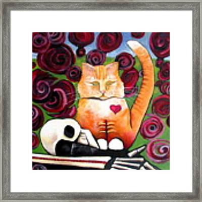 Boris And Me Framed Print by Delight Worthyn