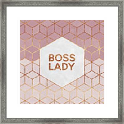 Boss Lady Framed Print by Elisabeth Fredriksson