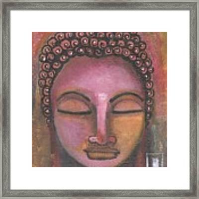 Buddha In Shades Of Purple Framed Print by Prerna Poojara