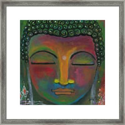 Buddha Painting Framed Print by Prerna Poojara