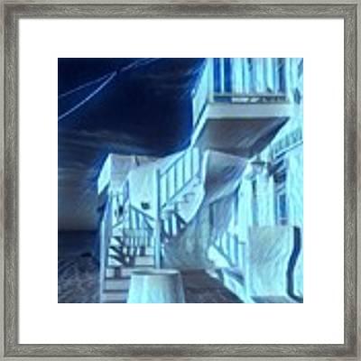 Building At Harbour  Framed Print by Colette V Hera Guggenheim