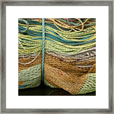 Bundle Of Fishing Nets And Ropes Framed Print by Carol Leigh