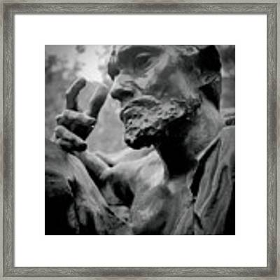 Burgher Of Calais - I Framed Print by Samuel M Purvis III