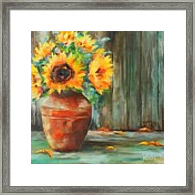 Bursts Of Sunshine Framed Print by Wendy Ray