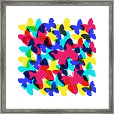 Butterflies Framed Print by Bee-Bee Deigner