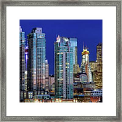 Calgary's Blue Hour Framed Print by David Buhler