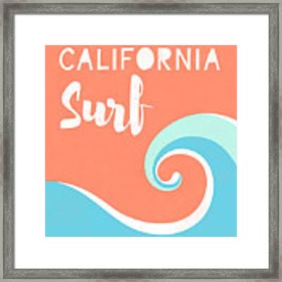 California Surf- Art By Linda Woods Framed Print by Linda Woods